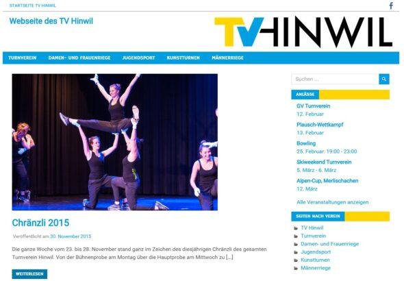 Neue Webseite des Turnvereins Hinwil